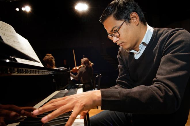 Classe d'accompagnement au piano © Blaise Adilon